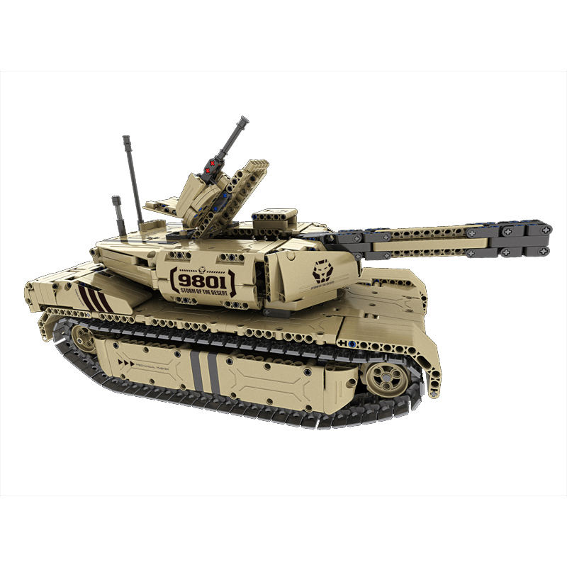 QIHUI 9801 RC Building Blocks Tank Toy 1276 PCS Army Military Remote Control RC Car