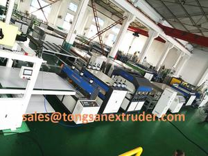 Plastic sheet extrusion machine / PP corrugated hollow sheet making machine / PC grid sheet machine machine