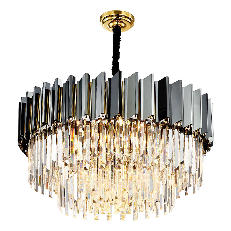 Modern Hotel Lobby Decoration Hanging 110-240V Pendant Lights Chandelier Lamp Crystal Long Lmps Church Chandeliers