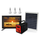 Solar Power Tv Solar Kits Home Application Multi Solar Power System Home Lighting System With 19 Inch TV For Family Watching Solar Energy Systems