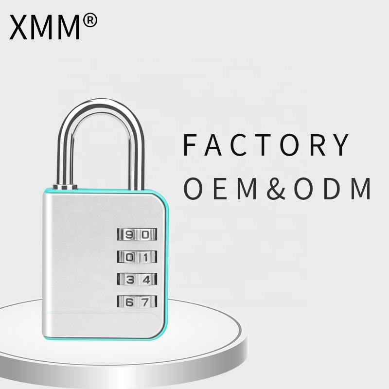 Wenzhou factory XMM 4 dial reset-able combination lock high quality safety GYM travel lock for luggage new item xmm-8091