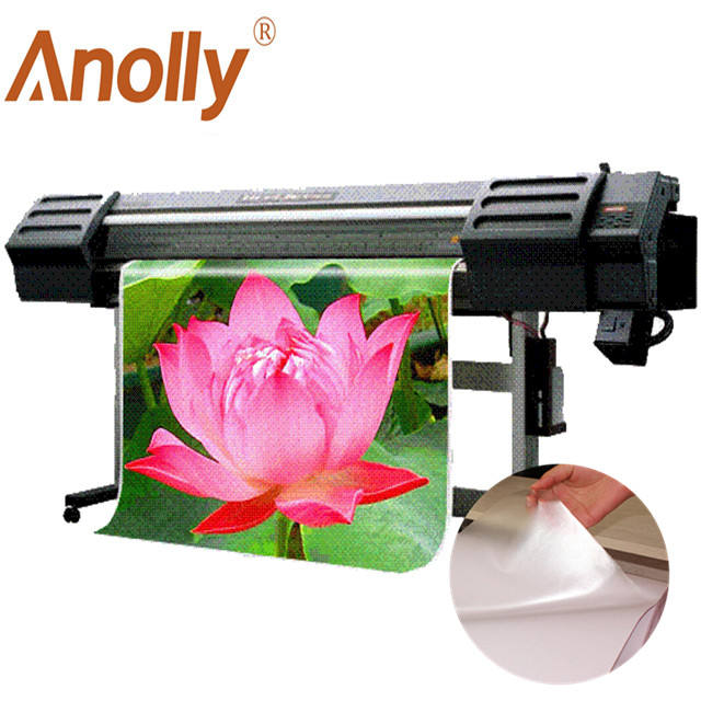 Anolly transparent vinilo imprimible eco solvent printing self adhesive vinyl poster roll for advertising