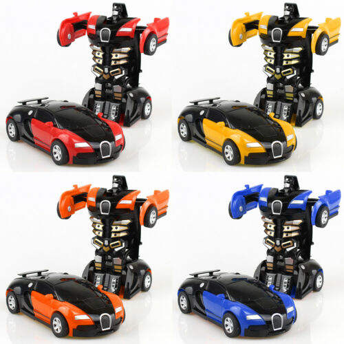Robot Car Transform Kids Toys Toddler Vehicle Cool Toy For Boys Xmas Gift A deformed car