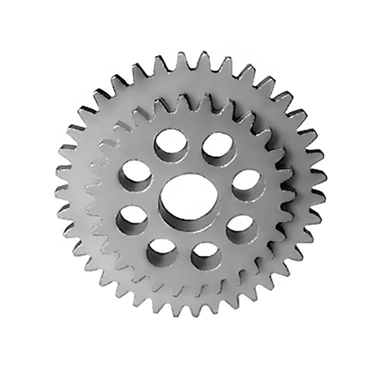 iron powder sintered double gear for electric roll gate controller
