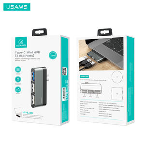 USAMS US-SJ461 çoklu USB 3.0 tip-c Mini 3 port USB HUB