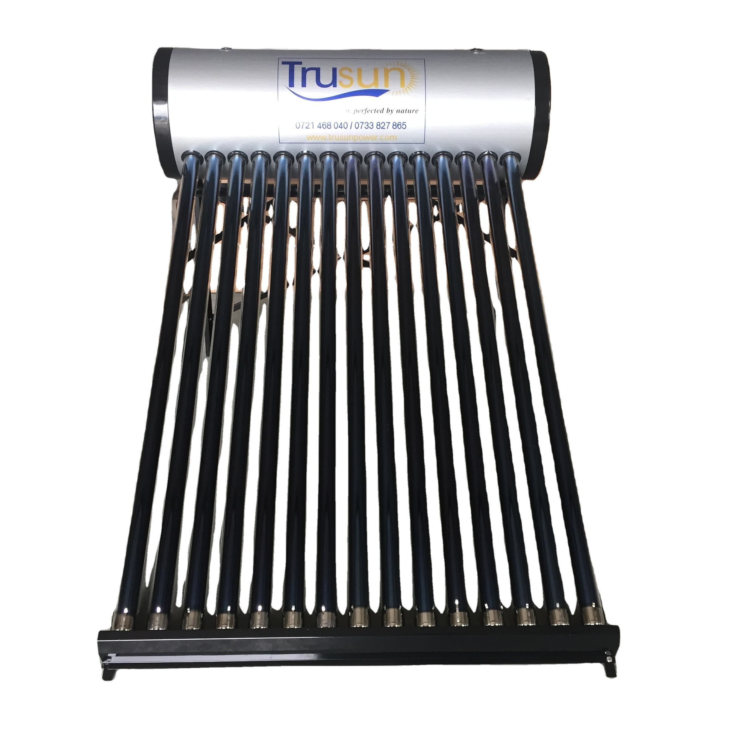 Hot water system non-pressurized solar geyser water heater with stainless steel