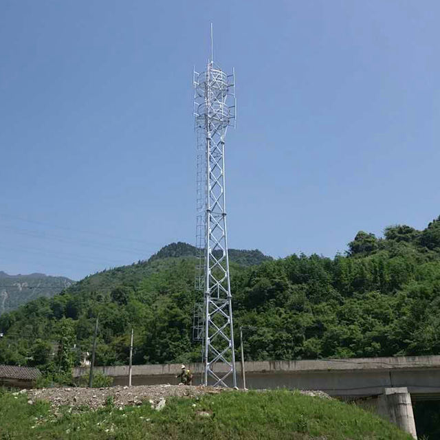 galvanized tube steel telecom mobile lattice telecommunication tower