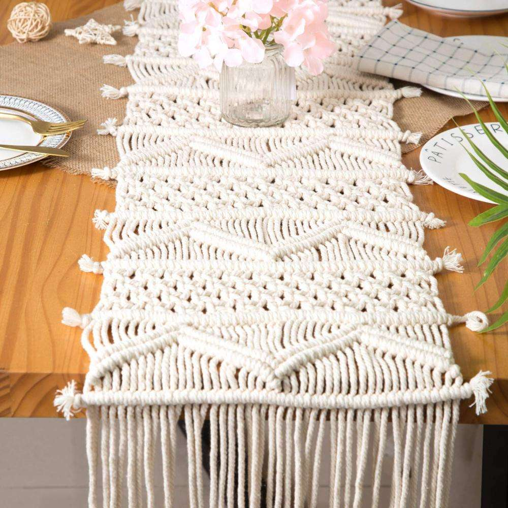 Macrame Table Runner Handwoven Boho Wedding Table Decoration Bedding Blanket