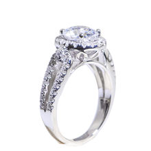Fashion sterling CZ silver plated gifts for women wedding rings