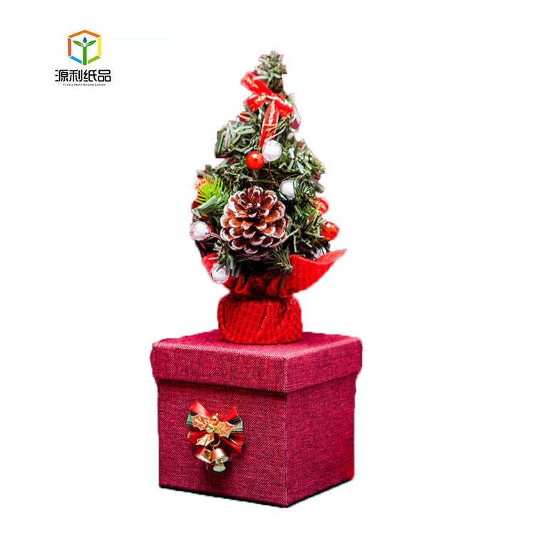 For Gift [ Packaging Cake ] Cardboard Gift Packaging Box Christmas Tree Music Box OEM Printed Cardboard Gift Paper Packaging Biscuit Cake Candy Box