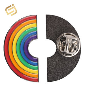 Promotional Magnetic rainbow Lapel Pin Button Badge