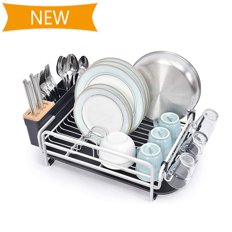 Selling 100000pcs Popular Dish Plate Dryer Rack Storage Dish Drainer Retractable Folding Drying Rack For Kitchen