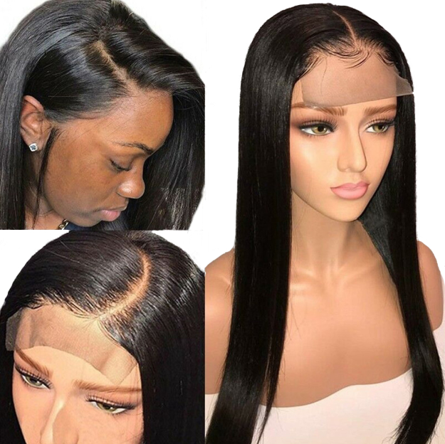 HD Closure Wig, Transparent Swiss HD Full Lace Wig,Cuticle Aligned Raw Brazilian Human Hair HD Lace Frontal Wig,