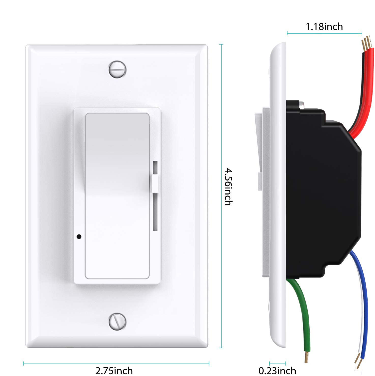 USA Standard High Quality 3-Way LED Triac 110V Dimmer With Slide Switch