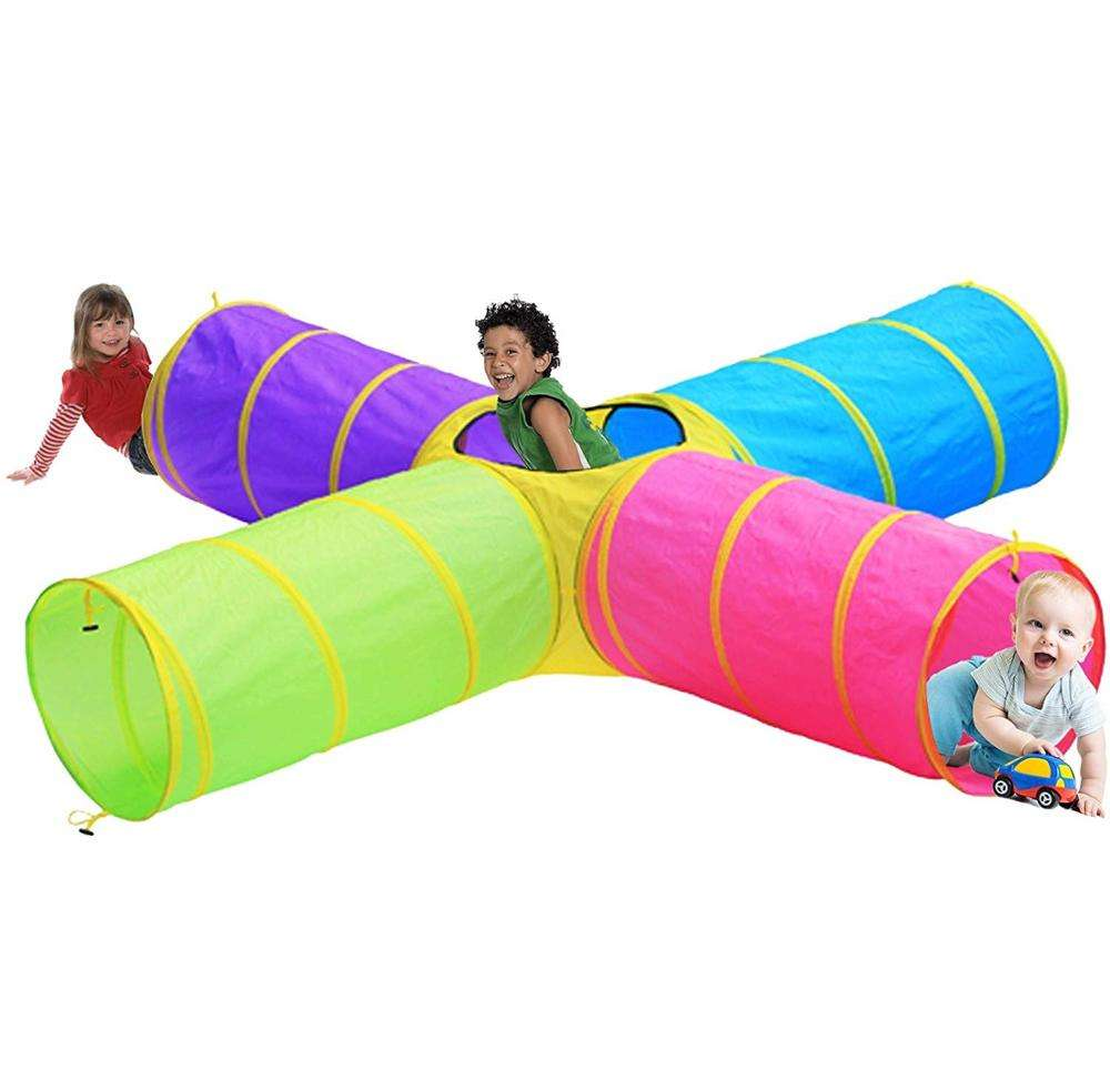 Kids Play Tunnels Indoor Outdoor Crawl Through Pop up Tunnel for Kids Dog Toddler Babies Children Gift Toy