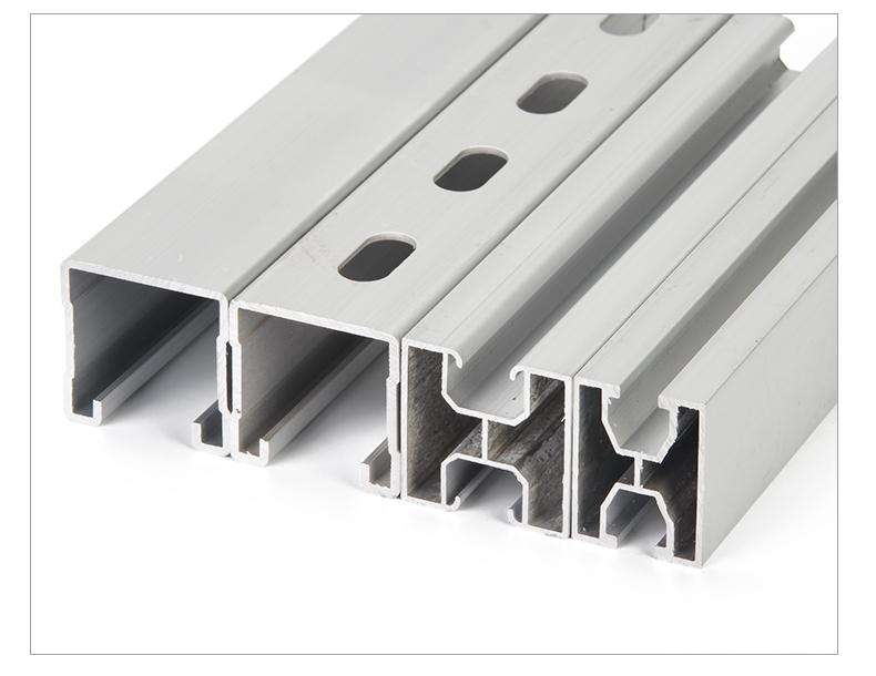 High Precision Aluminum Solar Mounting Support Profile Anodizing Deep Processing Extruded Aluminum Profile