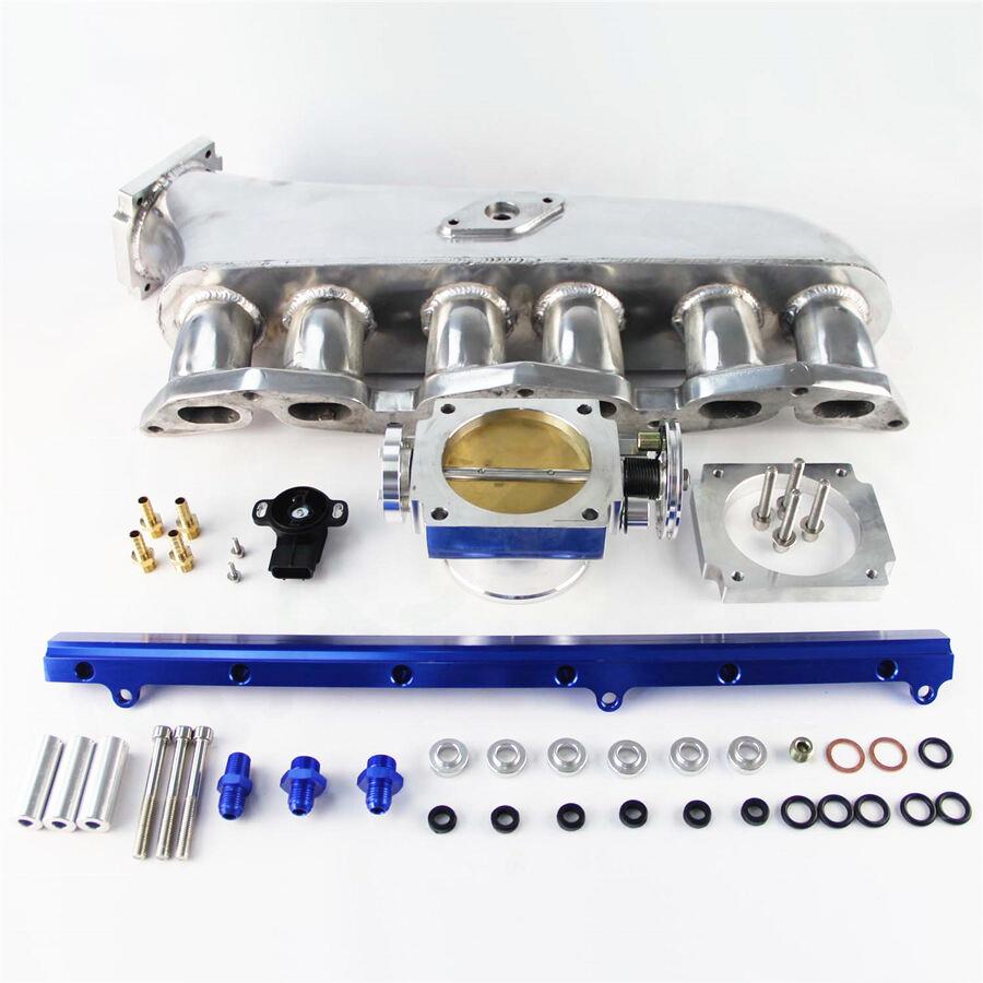 90mm Throttle Body W// TPS Sensor For Toyota Supra 1JZ-GTE BK Intake manifold