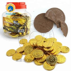 Gold chocolate coin candy