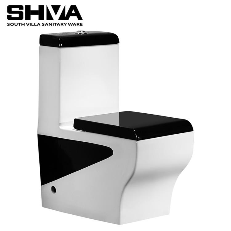 China Sanitary Ware Ceramic One Piece Black Toilet China Market Toilet Water Closet