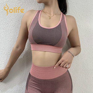 Yolife mesh yoga top eco yoga bekleidung rpet bekleidung recycling kunststoff sport bekleidung yoga tops mit gebaut in bh sexy sport bh