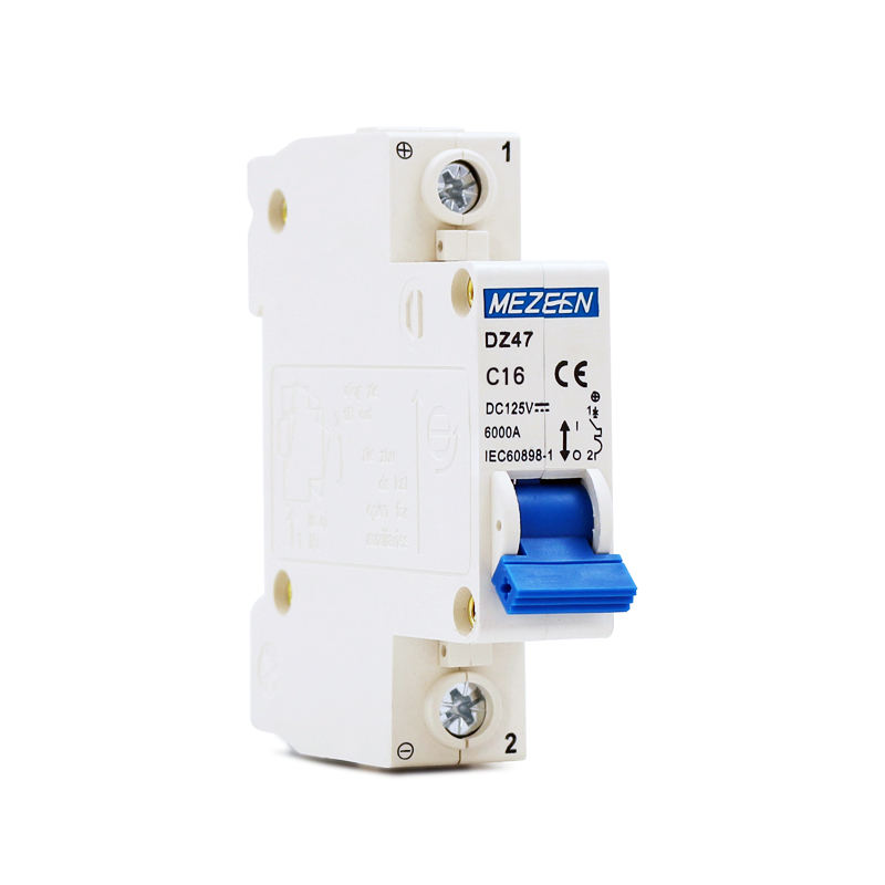 China wholesale DC miniature circuit breaker 1P 16A 125V safety DC Breaker 50/60Hz 6Ka