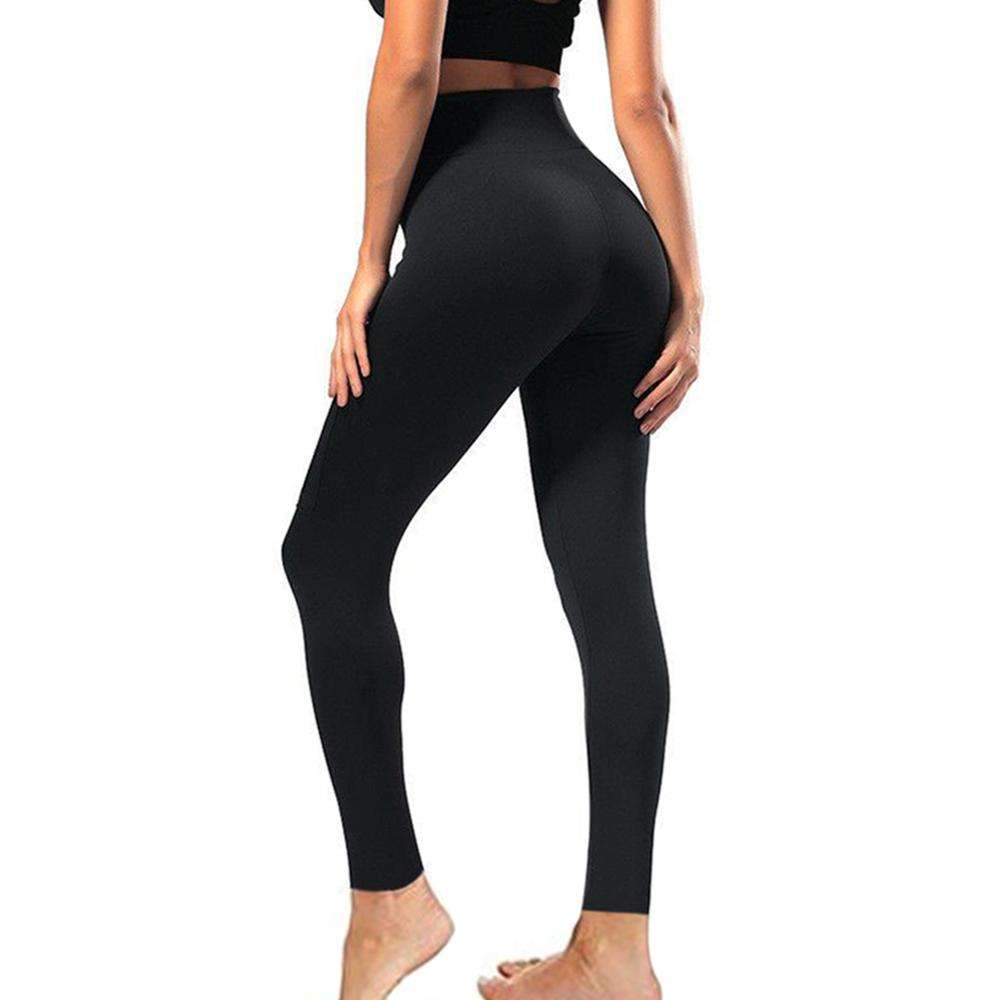92% Polyester 8% Spandex Boterachtige Zachte Zwarte Leggings Plus Size Hoge Waisted Workout Leggings Voor Vrouwen