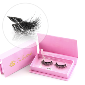 Halloween Invisible House Of 20 mm Mink Lashes Glitter Beauty Genie Feather Flower Eyelash With Box