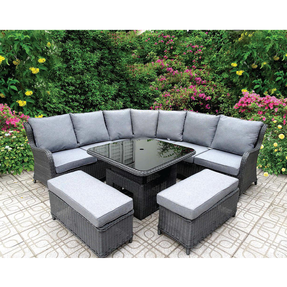 OC003 - Birmingham wicker sofa set | outdoor furniture with corner sofa