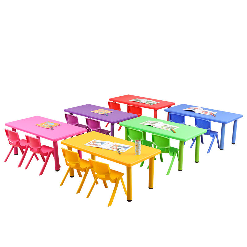 Wholesale price high quality school plastic folding kindergarten kids table and chair set