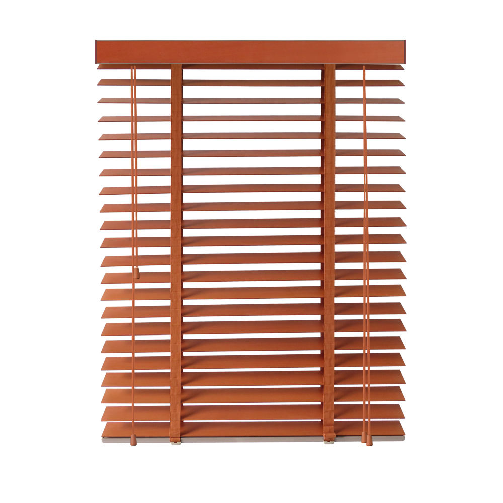 Easy clean installation durable fold sunshading window basswood wooden blinds