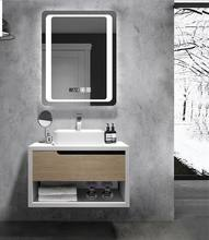 hotel Drawers Bathroom Vanity Unit With LED Mirror
