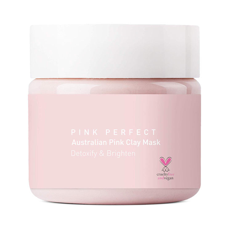 Deep Pore Skin Cleansing pink clay mask private label Purifying Brightening vegan clay mask
