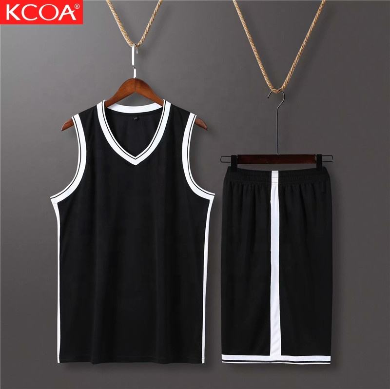 KCOA Latest Design 100% Polyester Mens Blank Basketball Jerseys