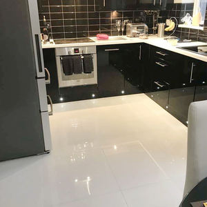 Cheap Price 24x24 55 Degree Glossy Kitchen Living Room Super White Indoor Polished Porcelain Ceramic Floor Tiles 600x600