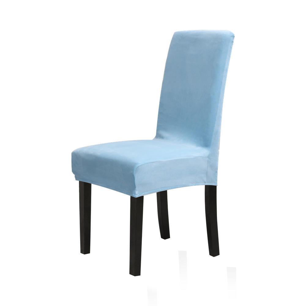 Washable Chair Protect Cover Stretch Short Dining Chair Covers Removable Chair Seat Slipcover For Party