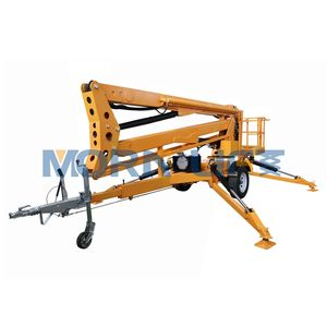 Towable folding arm 12m hydraulic lift platform with battery power