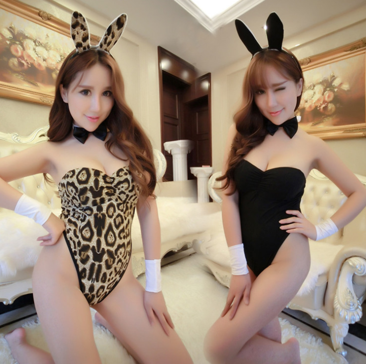Femmes Sexy Lingerie Lapin Halloween Costume Costume Cosplay une pièce de lingerie