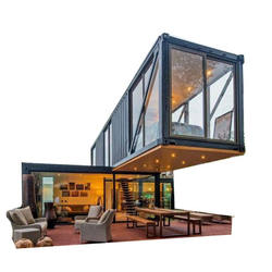 luxury 40ft shipping container homes prefab container  house with convenient ship and loading.