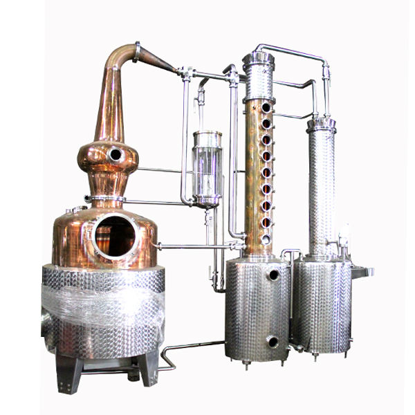 DYE 300L 500L 800Ll Copper Alcohol Distillation Equipment Rum Still Gin Distillery Equipment