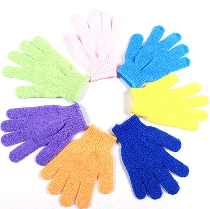 Skin Bath Shower Wash Cloth Scrubber Back Scrub Exfoliating Body Massage Sponge Bath Gloves