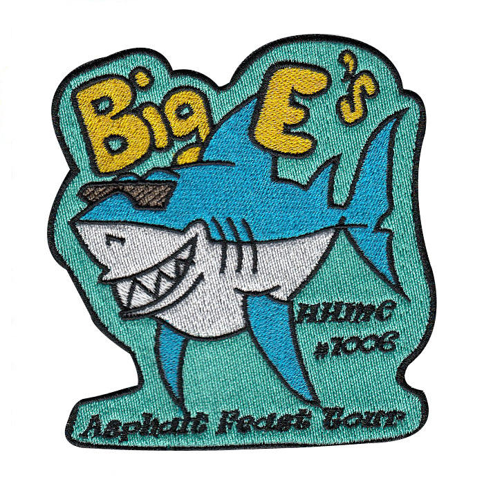 High quality sew on badges custom kids embroidered shark patches for blouses
