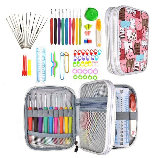72 pcs Yarn Knitting Needles Crochet Hook Set Sewing Accessories set for homeuse