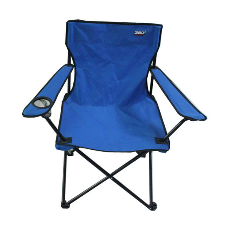 Blue metal folding camp armchair, single outdoor furniture luxury armchairs fishing tent chair beach chair camping klappstuhl