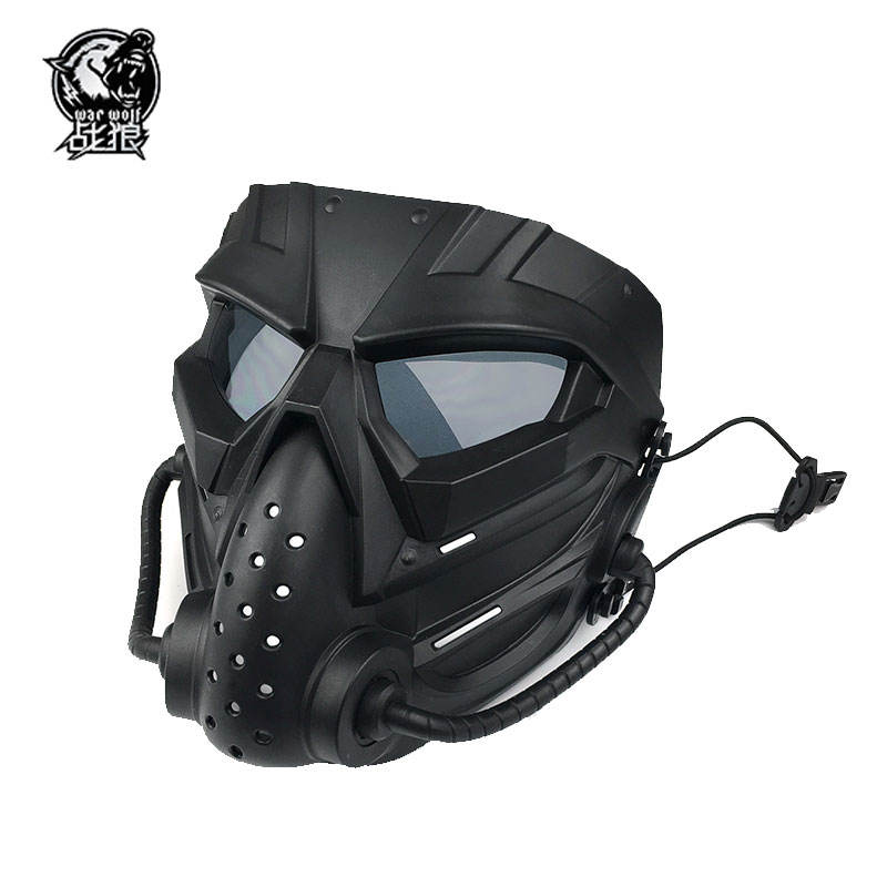 High quality tactical ballistic war game profiled full face protective mask Paintball airsoft mask with CE certification