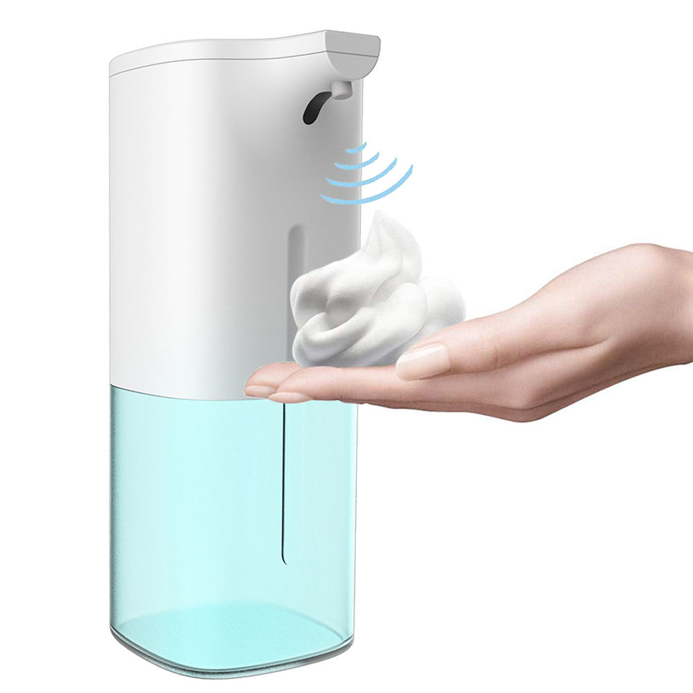 Smart Sensor 350ml Touchless Schiuma Dispenser di Sapone Automatico, Mani Libere In Piedi Automatico Disinfettante per le mani Dispenser)