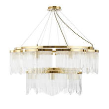 American light luxury round glass chandelier living room lamps home decoration lighting