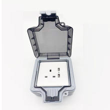 IP66 Industrial waterproof Box Switched Socket 1Gang 2Gang 13Amp Weatherproof Switch Waterproof Socket