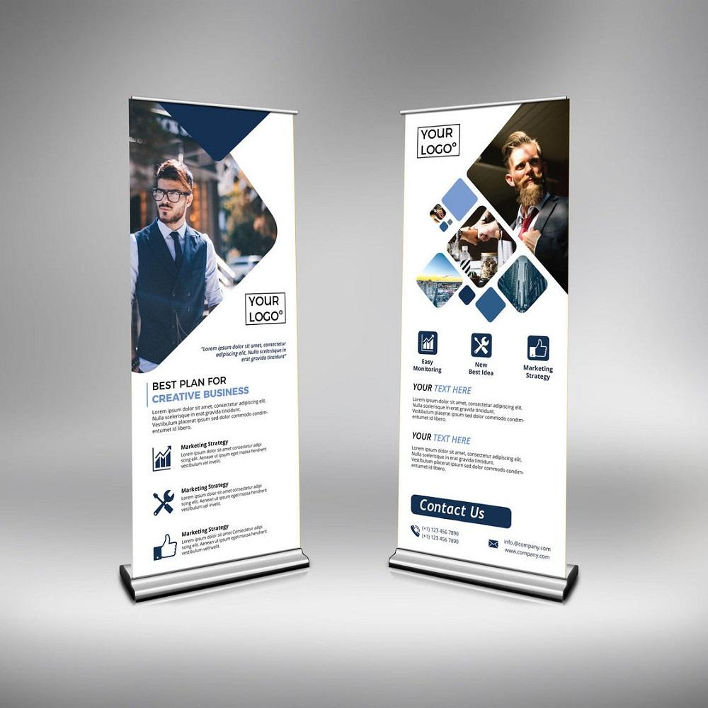 80x200 Outdoor Advertising Banner Stand 85x200 Roll Up Banner