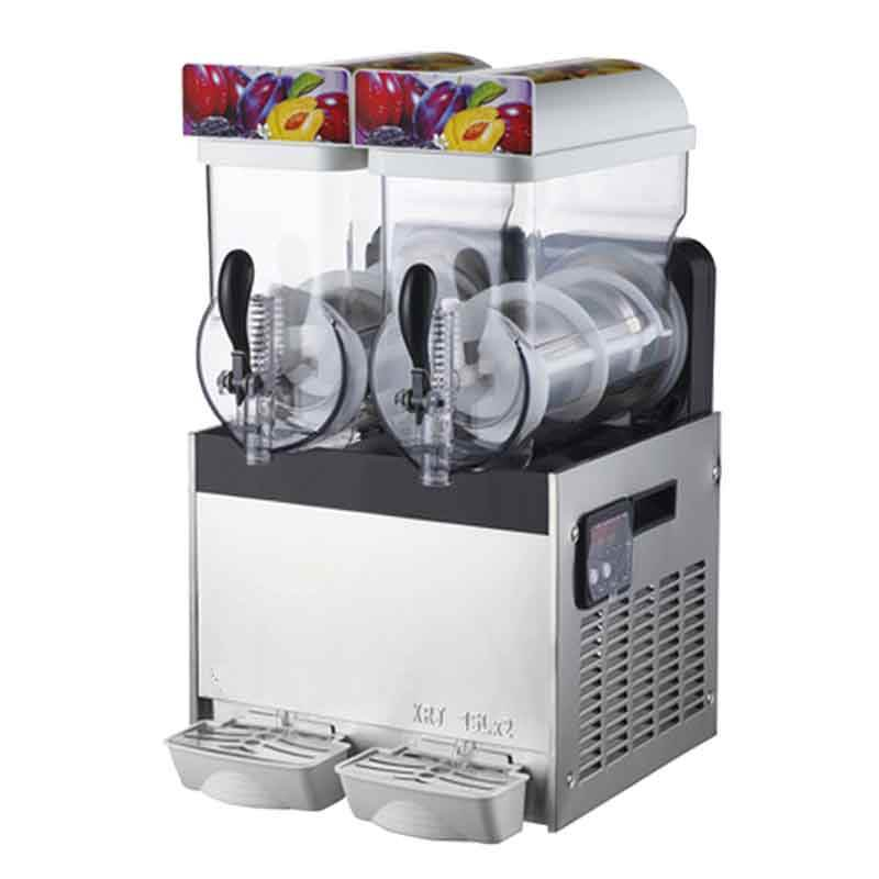 2 réservoirs Glace Slush Machine De Fonte De Neige Commerciale glace slush machine boisson glacée slush machine