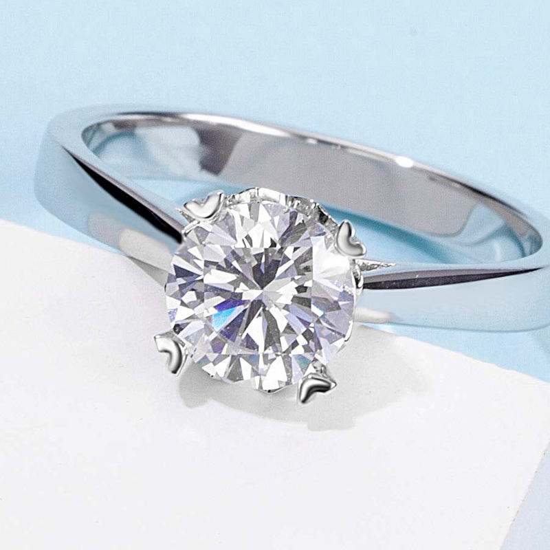 M19A Eternal Love 1ct moissanite diamond ring